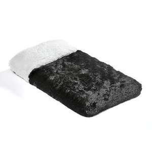 Pet Time Small Black Chenille Orthopaedic Pet Bed £7.68 Delivered with code @ Garden & Homes direct