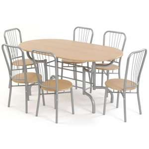 Moondust Dining Set  (Table & 6 Chairs) £143.99 Delivered with code @  Garden and Homes direct
