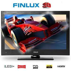 Finlux 22 Inch 3D LED TV, 1080p, 4x 3D Glasses, Freeview & USB PVR - £149.99 @ Finlux - Ebay