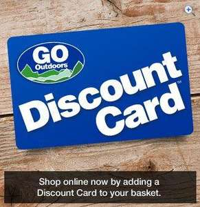 Discount Card ( Guarantees the UK's lowest prices + 10% Discount ) £5 @ GO Outdoors (Instore or Free Home Delivery)