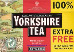 ICELAND YORKSHIRE TEA BAGS 160 (80+80 FREE)  £2.50