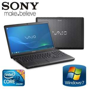 "SONY VAIO CORE I3-2310M 4GB DDR3 320GB 15.5"" WIN 7 HDMI VPCEH1L0E/B LAPTOP £299 @ Tesco ebay (Refurb)"
