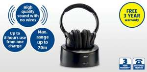 Altius Wireless Headphones with a 863MHz transmission frequency for the amazing price of £24.99 with 3yr warranty from aldi.co.uk