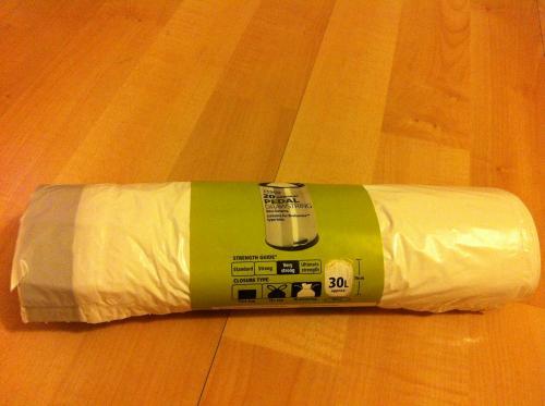Tesco Premium Drawstring Bin Liners - Fits Brabantia bin - 30 Litre - 20 pack - £1.50