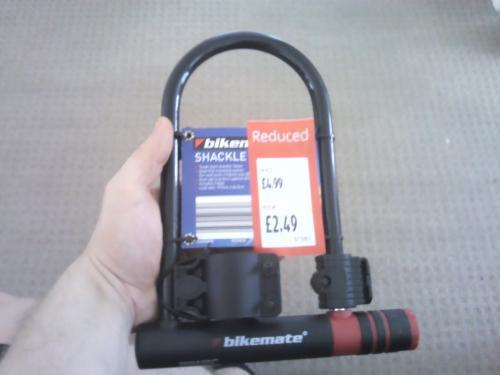 Bike Mate Shackle Bike Lock  (D-Lock) Reduced to £2.49 @ Aldi