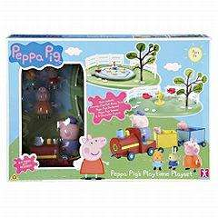 Peppa Pig Playtime Playset Item code: 120354436 Was £39.99 now £19.99 @ Sainsburys online with free delivery to store.
