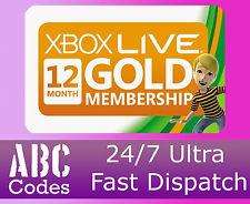 12 Month Xbox Live Gold Membership £24.69 [Free Instant Delivery] @Ebay abccodes