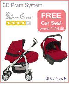 Silver Cross 3D Pram with free car seat + 20% off with code 20AUGH