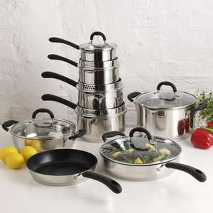 ProCook Gourmet Steel Cookware Set 8 Piece - £99 with code GSTEEL8