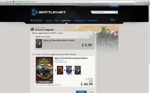 New! Full Mists of Pandaria with all expansions account (new players only) £44.99 @ Battle.net