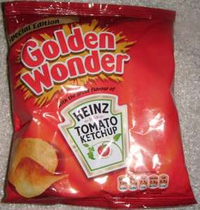Golden Wonder Special Edition Heinz Tomato Ketchup Crisps (6 x 25g) was £1.48 now £1.00 @ Tesco
