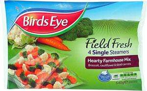 Birds Eye Field Fresh Single Steam Bags Hearty Farmhouse Mix (4 per pack - 540g) was £1.00 now 2 for £1.50 @ Heron (Grimsby)