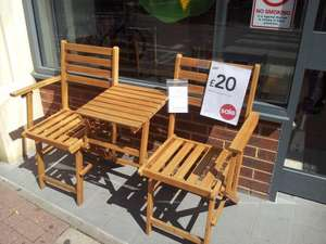 Folding Companion Wooden Chair Set - Wilkinsons - £20 (was £60)
