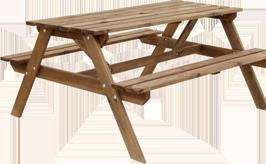 Blooma Wooden Picnic Benches & Table Garden Set £39.20 @ B&Q