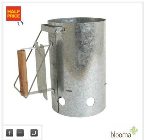 BBQ Chimney charcoal starter £6 B&Q