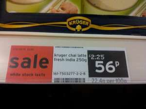 Kruger Chai Latte Fresh India for 56p at Sainsbury's