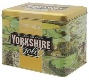 Free Yorkshire Gold Tea Caddies @ Morrisons with packs of 80