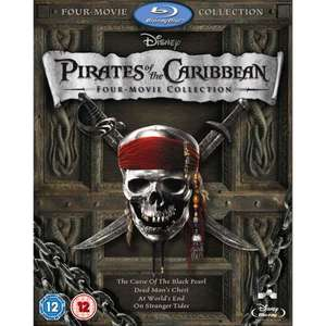 Pirates of the Caribbean 1-4 Blu Ray £10.00 instore @ Sainsburys