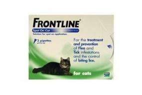 Frontline Flea Treatment for Cats - £11.10 for 3 or £17.89 for 6, Free Delivery @ Animed Direct