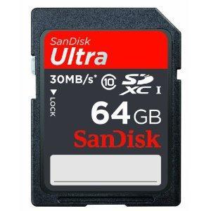 Sandisk 64GB Class 10 Ultra SDXC UHS-I FFP Memory Card - £29.99 @ Amazon