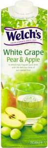 Welch's White Grape Juice Pear & Apple or Peach (1L) 80p or 2 for £1.00 @ Herons