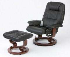 Restwell Napoli Black Faux Leather Electric Heating Massage Recliner RRP £349 NOW £177.95 + 5% QUIDCO (£169) - First Furniture