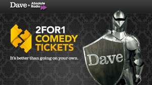 2 for 1 comedy tickets @ UKTV