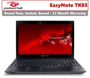 Packard Bell EasyNote TK85 - Intel Core i3 Dual Core, 4GB RAM, 500GB HDD (new) delivered @ Ebay outlet (save on laptops) - £299.99