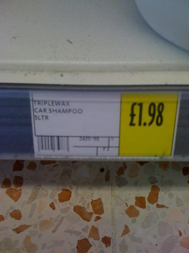Triplewax 5L !!! Car Shampoo £1.98 @ Morrisons