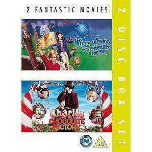 Willy Wonka And The Chocolate Factory / Charlie And The Chocolate Factory - DVD Boxset £3 Delivered @ Asda Direct
