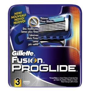 Gillette Fusion PROGLIDE Razor Blades 3 pack £2 @ ASDA
