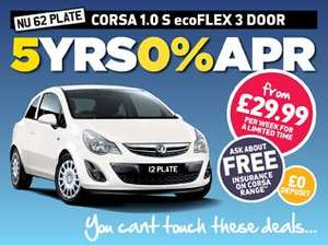 Corsa 1.0 S from Peter Vardy only £29.99 p/w or £129/month