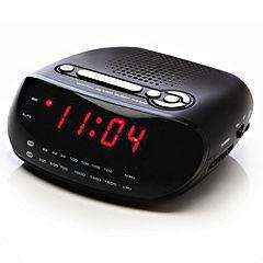 "Red AM/FM 0.6"" LED Alarm Clock Radio, Reduced To £5.99, Click & Collect @ Sainsburys"