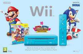 Nintendo wiii blue Console with Mario and Sonic at the London 2012 Olympic games= £79.99 delivered at game!