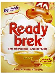 Ready Brek Honey or Chocolate (500g) was £2.19 now £1.09 @ Morrisons