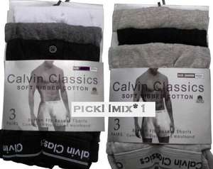 12 Pairs of Mens Calvin Classic Underwear Soft Ribbed Cotton S-XL £11.99 @ eBay / picknmix*1