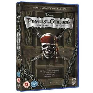 Pirates of the Caribbean four movie collection DVD. £6 in Sainsburys