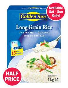 Boil In The Bag Long Grain Rice - 1kg Pack (8x125g) 59p @ LIDL
