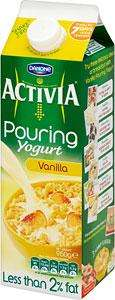 Activia Pouring Yogurt all flavours only £1.00 Asda instore and online.