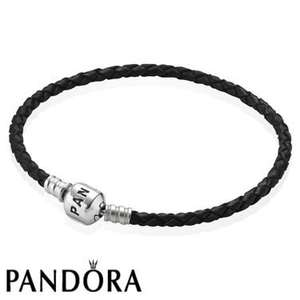 Pandora - Free Leather Bracelet + Free Postage + 8% quidco @ Argento - £75 spend