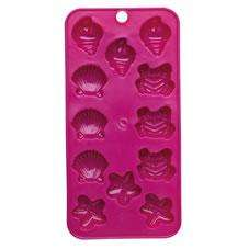 HOT PINK PICNIC ICE CUBE TRAY @ WILKO FOR 37P