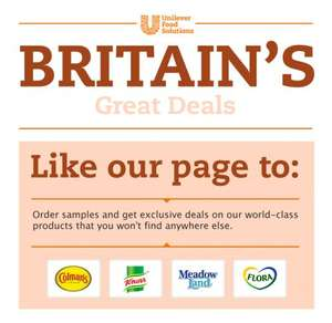 4 free food samples from unilever food solution on Facebook