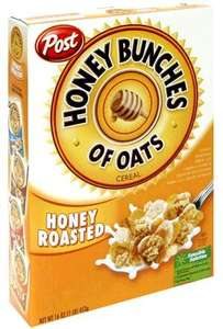 Post Honey Bunches of Oats 411g - 49p @ B&M