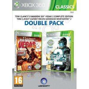 Ubisoft double pack rainbow six vegas 2 & ghost recon advanced warfighter 2 xbox 360 £7.24 @ Amazon