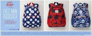 FREE Mini Boden Rucksack with all orders (inc sale items) & free delivery @ Boden