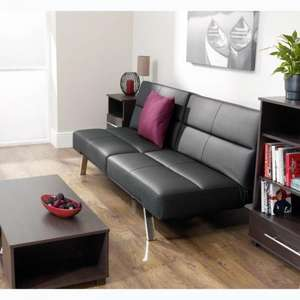 Click Clack Sofabed - Faux Leather - Black for £133.95 Delivered @ ASDA Direct
