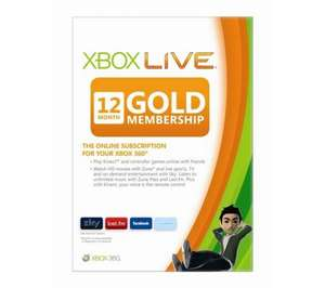 Xbox LIVE Gold 12 Month Subscription £29.97 @ Dixons