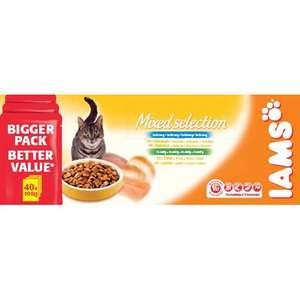 Iams Pouch Adult Cat Food Mixed Selection 100gm 40 Pack £3 @ ASDA instore only