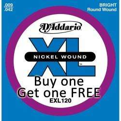 D'Addario      9 - 42  Electric Guitar Strings . £2.50 a pack and even cheaper if bulk buying @ astrings.co.uk