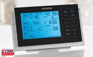 Auriol radio controlled Weather Station with wind + rain gauge £39.99 @ Lidl from 13th sept.